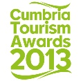 Cumbria Tourism Awards 2013 Logo, the Butcher's Arms was a Finalist for Tourism Pub of the Year.